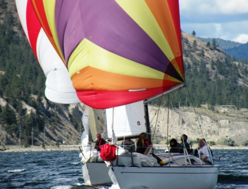 Racing Sailboats on Lake Okanagan